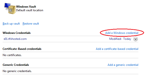 Knowledge Base :: How can I make TFS remember my credentials