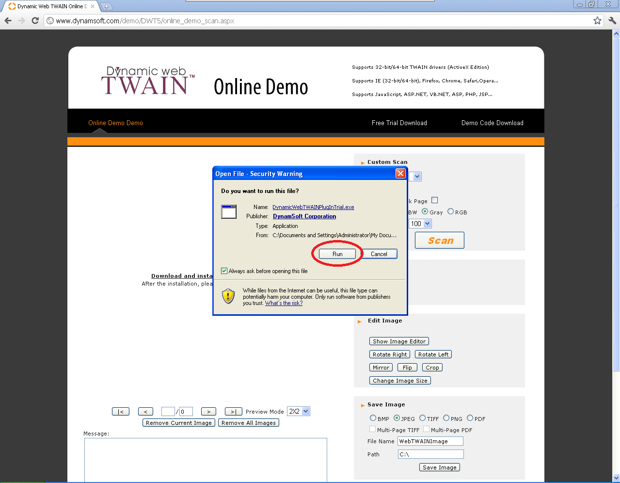 Step by Step Walk-Through on how to install Dynamic Web