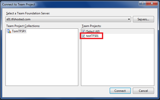 how to work with team foundation server