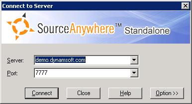 SourceAnywhere login