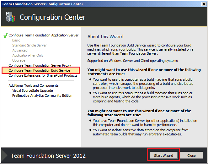 How to set up a local build server to work with Dynamsoft TFS